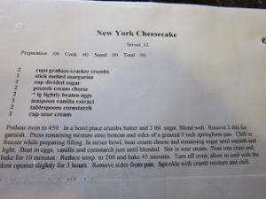 I Love NY (Cheesecake)!