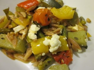 Roasted Veggies with Orzo