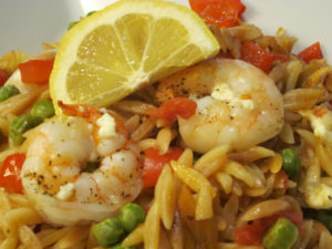Skillet Shrimp and Orzo Casserole