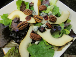 Spring Green Salad with Pear Vinaigrette