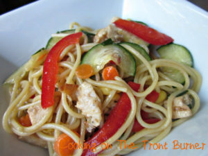 Oriental Pasta Chicken Salad