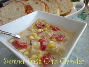 Summer Fresh Roasted Corn Chowder