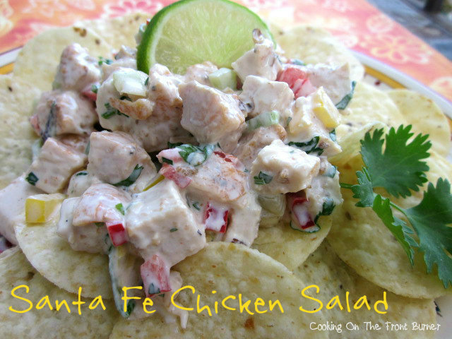 This Santa Fe Chicken Salad is so flavor and makes a perfect appetizer.