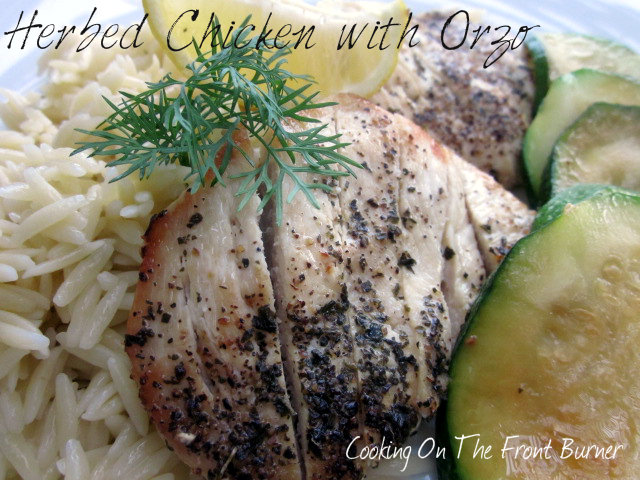 Chicken with Orzo and Zucchini