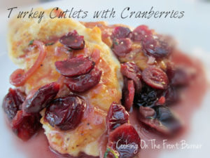 Turkey Cutlets with Cranberries