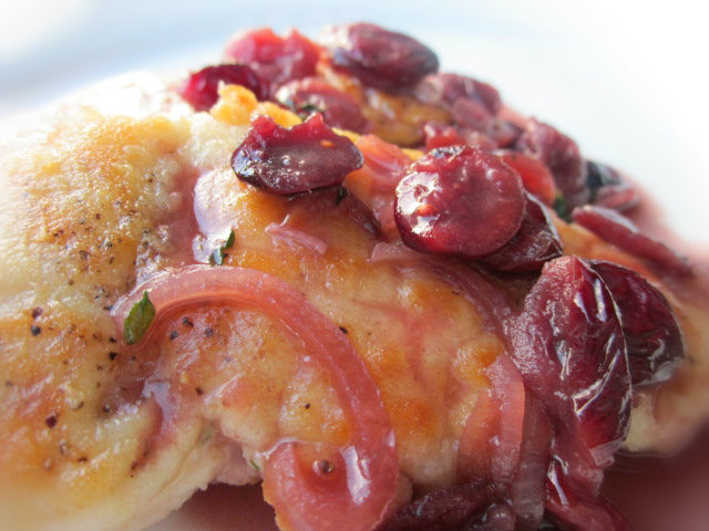 Turkey Cutlets with Cranberries | Cooking on the Front Burner
