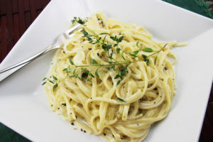 Pasta with Creamy Vodka and Herb Sauce