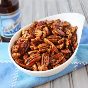 Beer and Bacon Glazed Pecans