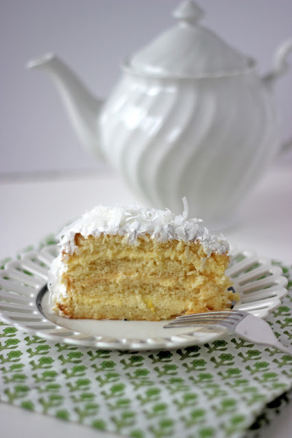 Four Layer Coconut Cake