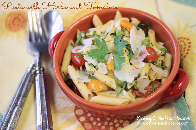 Light Pasta Herbs and Tomatoes