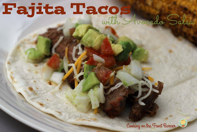 Steak Tacos Avocado Salsa | Cooking on the Front Burner