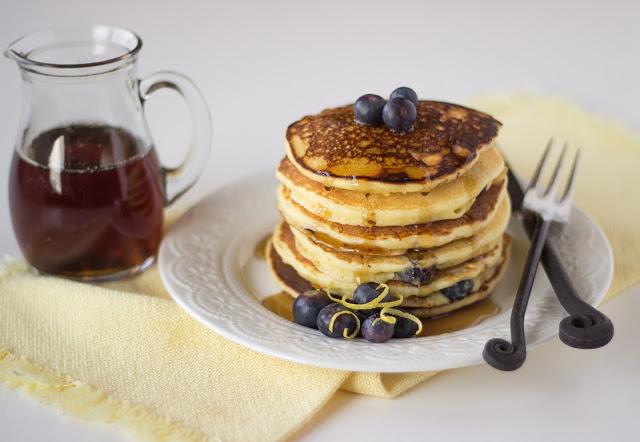 Lemon Blueberry Ricotta Pancakes   Cooking on the Front Burner