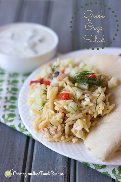 Greek Orzo Salad | Cooking on the Front Burner