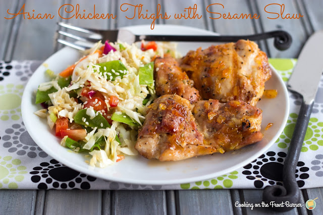 Asian Chicken Thighs with Sesame Slaw