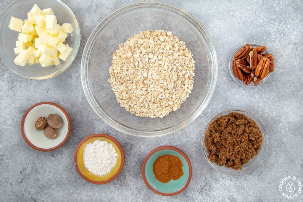 ingredients needed to make pecan streusel