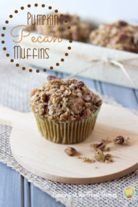Pumpkin Muffins with Pecan Streusel