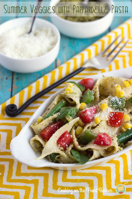 Summer Veggies with Pappardelle Pasta