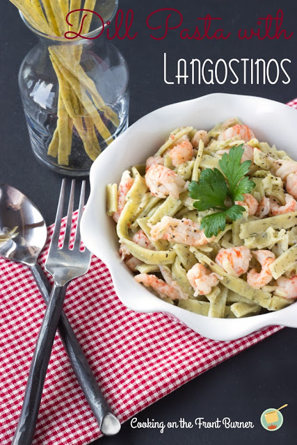 Dill Pasta with Langostinos | Cooking on the Front Burner #pasta
