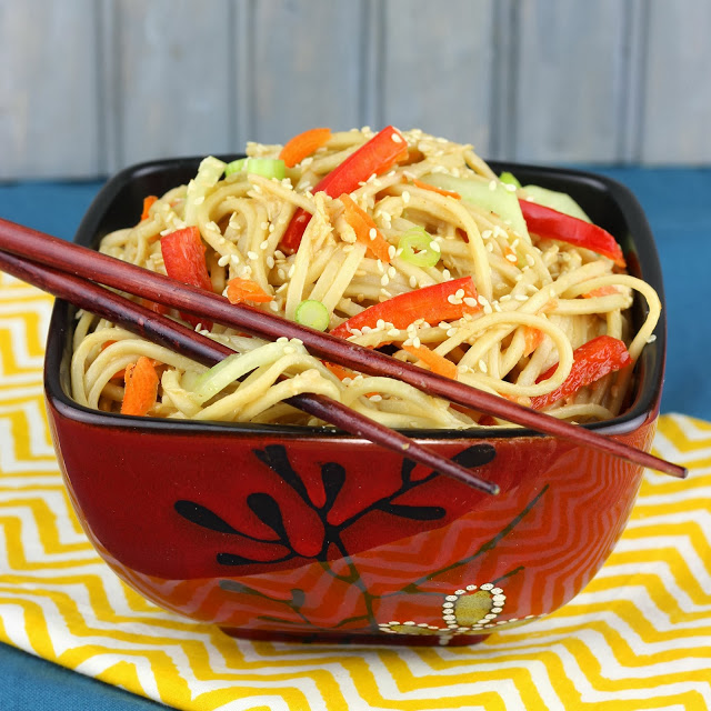 Sesame Noodles with Chicken and Veggies | Cooking on the Front Burner