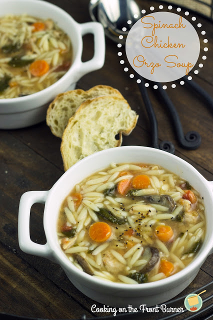 Spinach Chicken Orzo Soup
