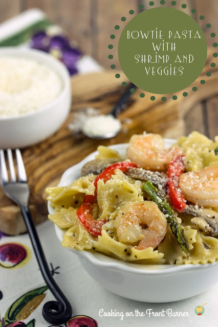 Bowtie Pasta with Shrimp and Veggies | Cooking on the Front Burner #pasta #italian #shrimp