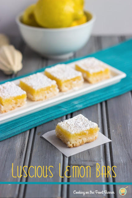 Oh my gosh you will pucker up and love these luscious lemon bars!