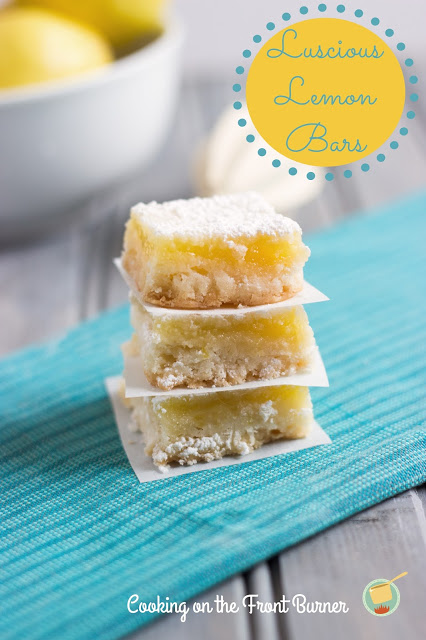 Luscious Lemon Bars | Cooking on the Front Burner #lemonbars