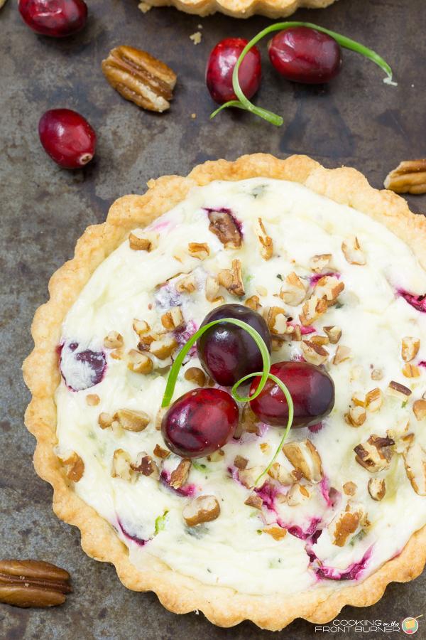 Cranberry Gorzonzola Tart