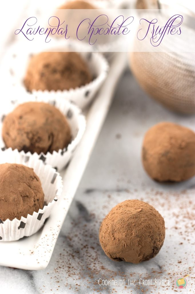 Lavender Chocolate Truffles | Cooking on the Front Burner #chocolatetruffles #lavendertruffles