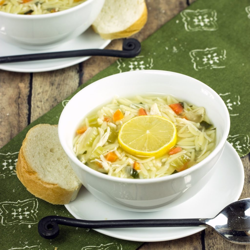 Lemon Chicken Orzo Soup | Cooking on the Front Burner #lemonsoup