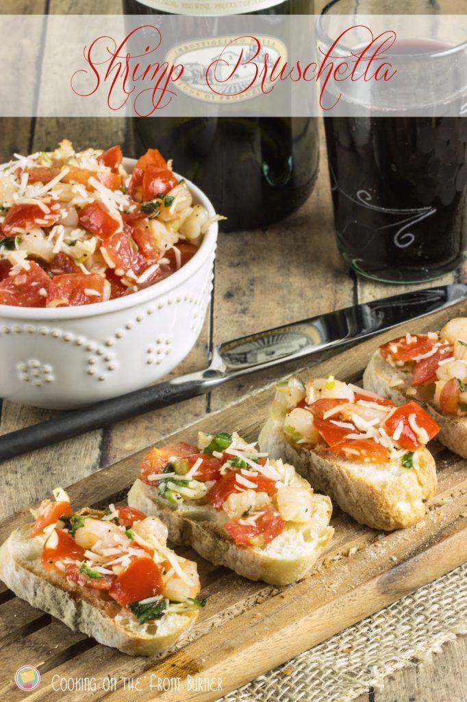 Shrimp Bruschetta | Cooking on the Front Burner #gyco #shrimpbruschetta