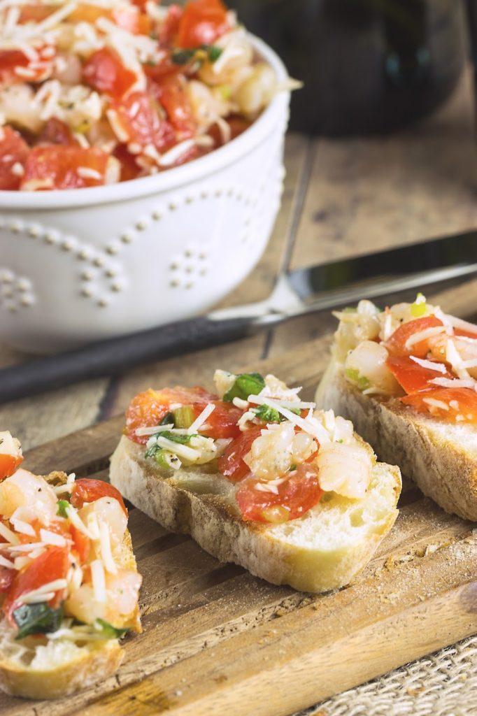 Shrimp Bruschetta | Cooking on the Front Burner #shrimp #bruschetta