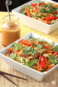 Asian Slaw with Ginger Soy Dressing
