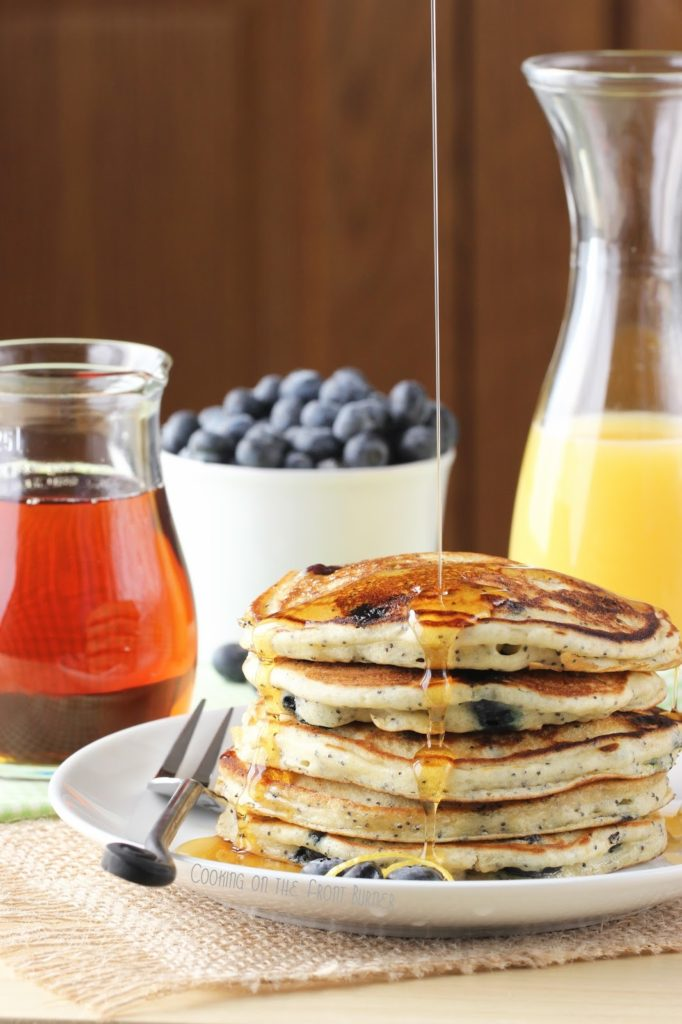 Lemon Blueberry Poppy Seed Pancakes | Cooking on the Front Burner #lemonblueberrypancakes #pancakebreakfast