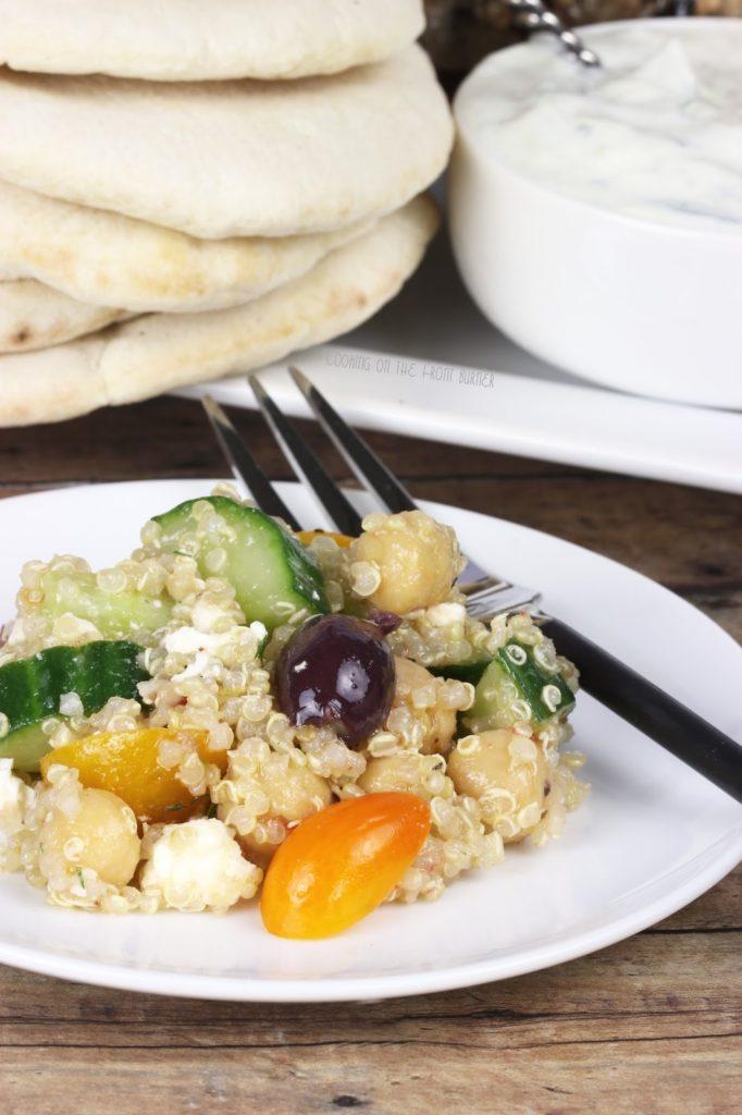 Mediterranean Quinoa Salad | Cooking on the Front Burner #greeksalad #quinoa