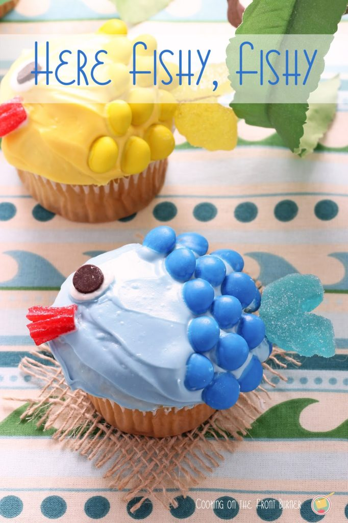 Fishy Cupcakes | Cooking on the Front Burner