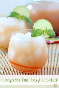 Grapefruit Lime Basil Cocktail