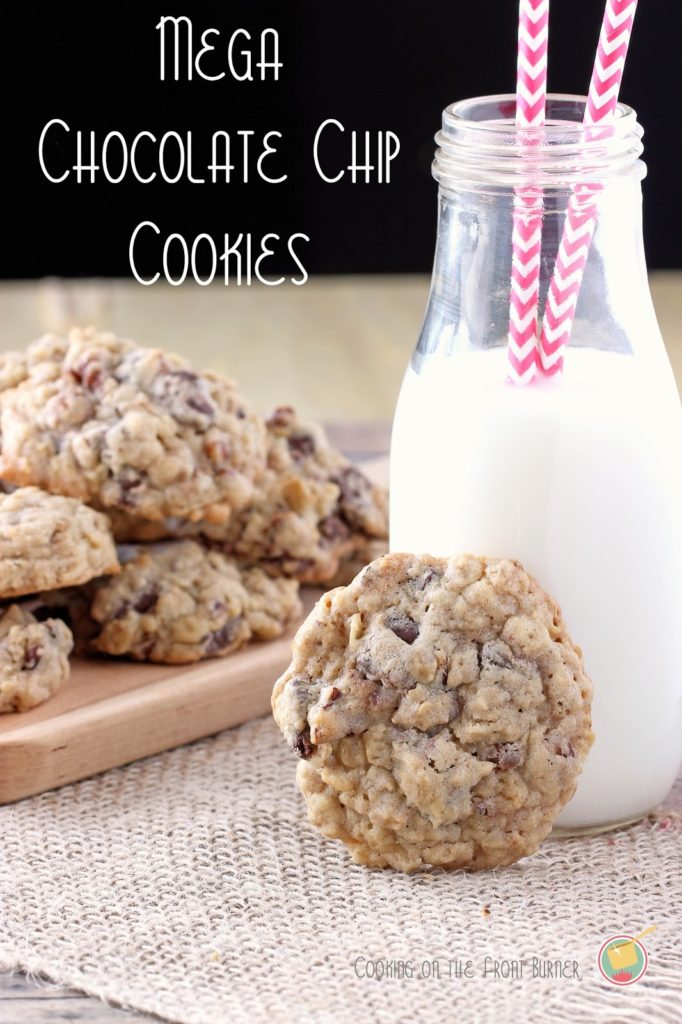 Mega Chocolate Chip Cookies | Cooking on the Front Burner