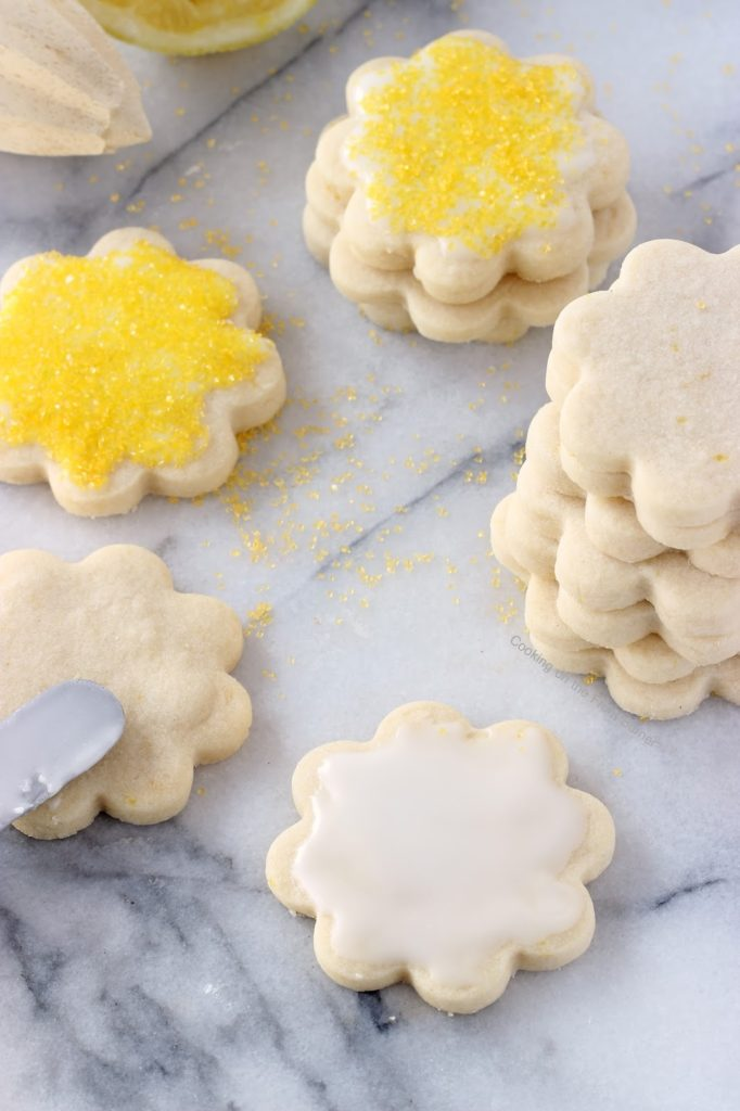 Lemon Shortbread Cookies   Cooking on the Front Burner