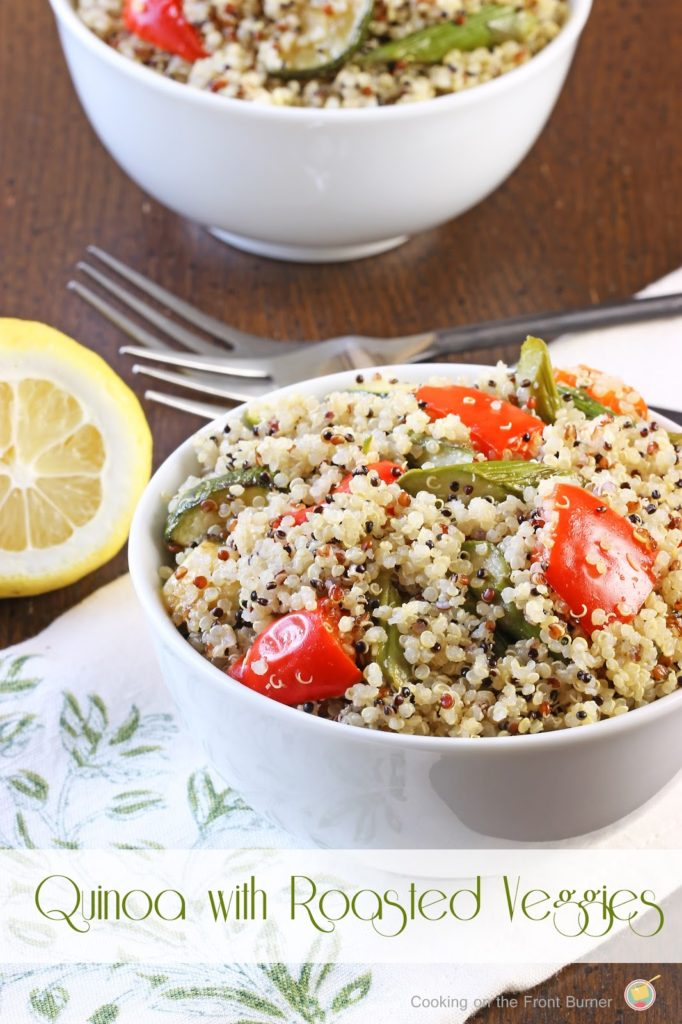 Quinoa with Roasted Veggies | Cooking on the Front Burner