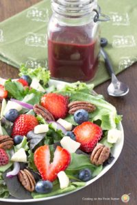 Berry Brie Salad with Blackberry Vinaigrette