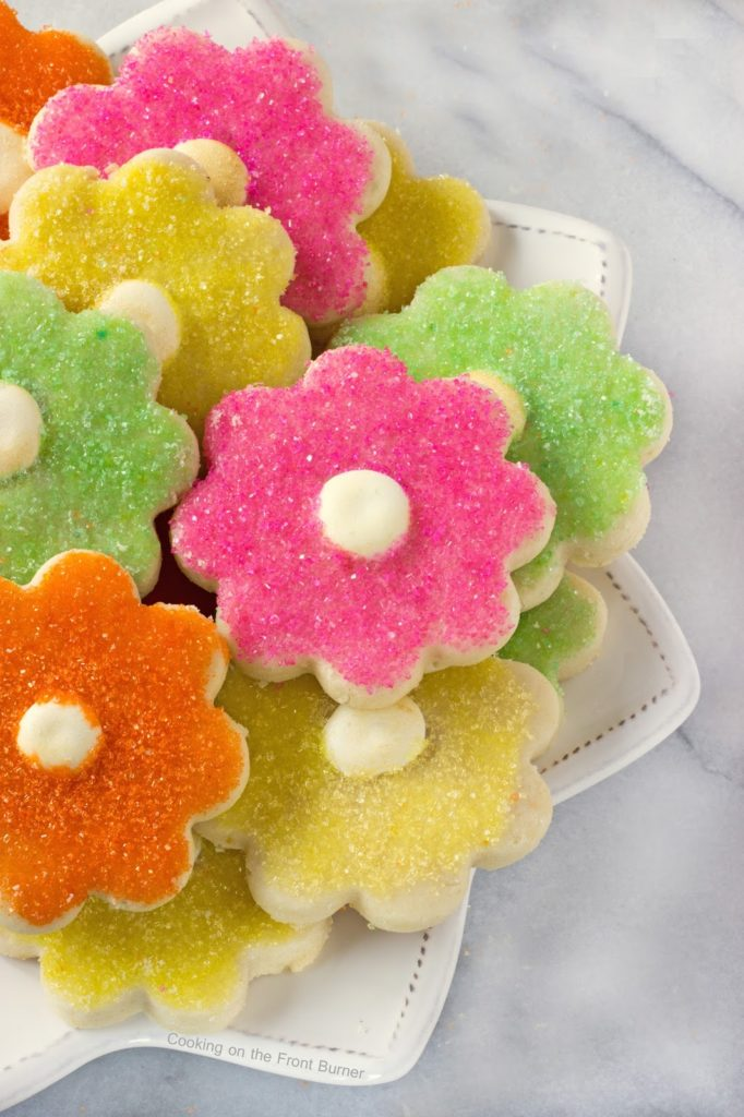 Flower Power Shortbread Cookies | Cooking on the Front Burner #dessert