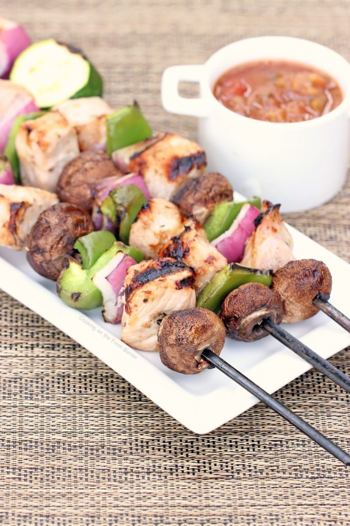 Grilled Pork Kabobs with Chile-Lime Sauce | Cooking on the Front Burner