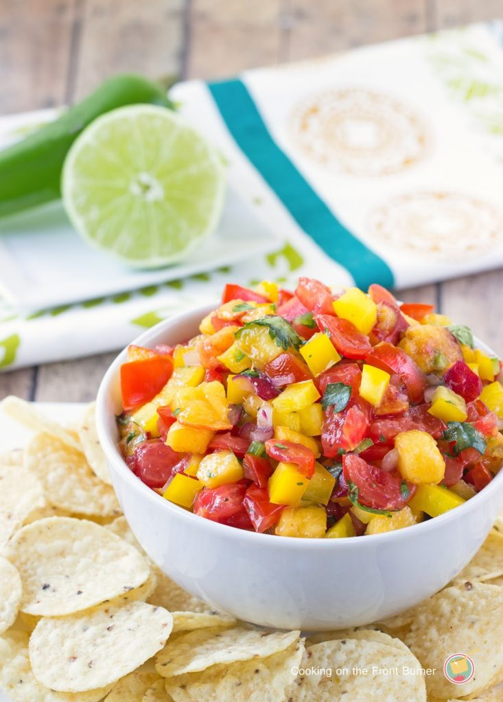 Peach Salsa   Cooking on the Front Burner