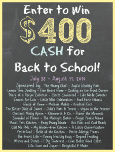 $400 Back to School Cash Giveaway!