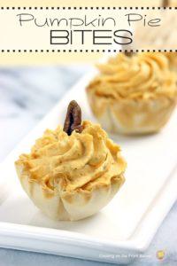 Pumpkin Pie Bites (No Bake)