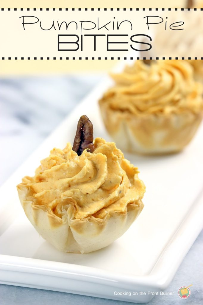 No-Bake Pumpkin Pie Bites   Cooking on the Front Burner