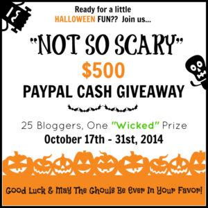 Not So Scary $500 Giveaway!
