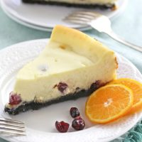 Orange Cranberry Cheesecake
