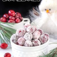 Orange Candied Cranberries